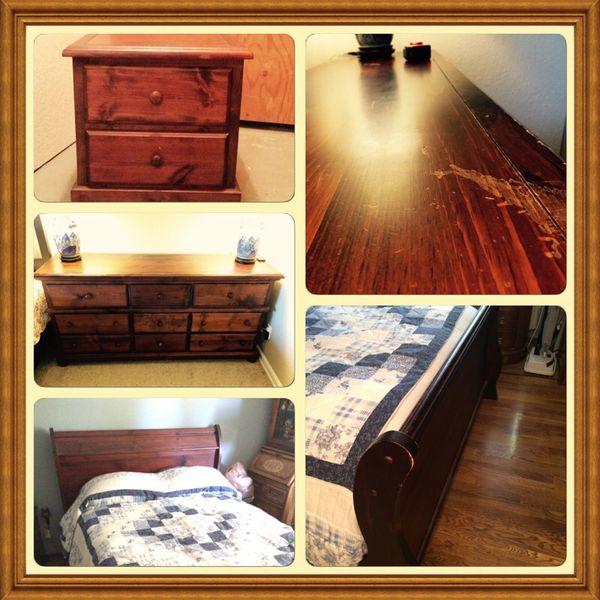 Dark Maple Bedroom Set Furniture In Shoreline Wa Offerup