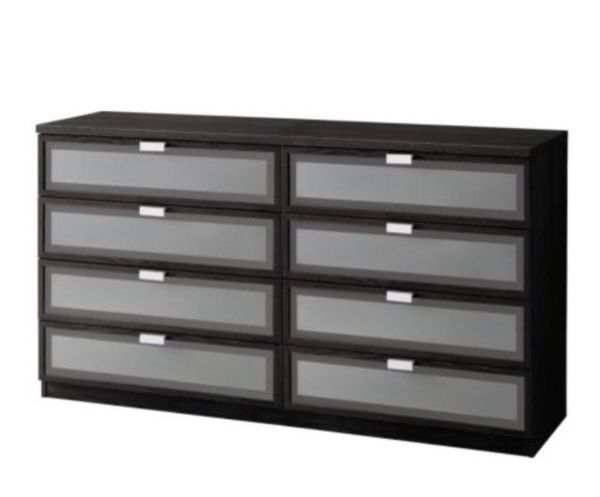 Favorite this post ikea hopen 8 drawer dresser black for Sideboard 2 m breit
