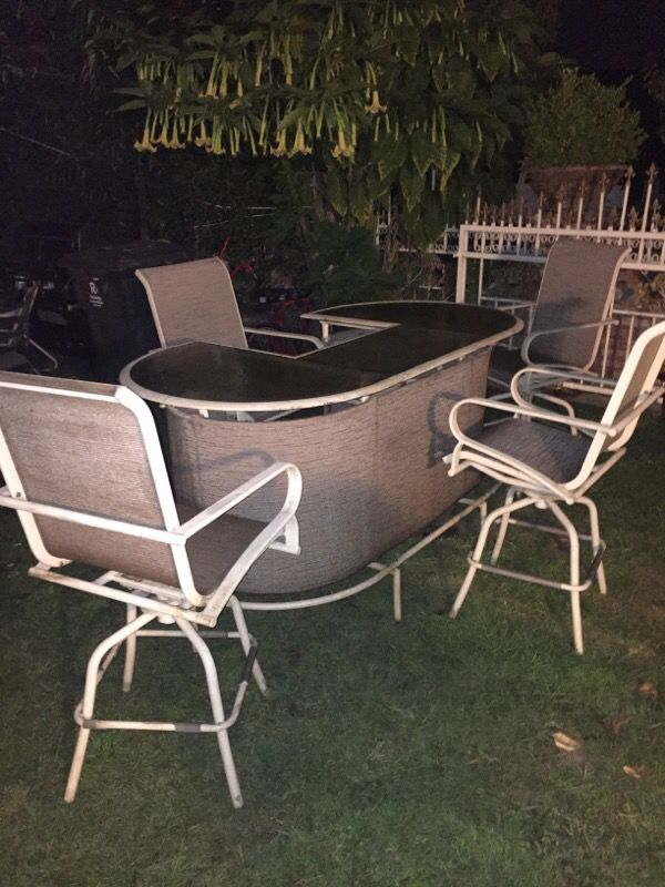 Patio Furniture Bar High Stools Household In Redwood City CA - Patio furniture redwood city