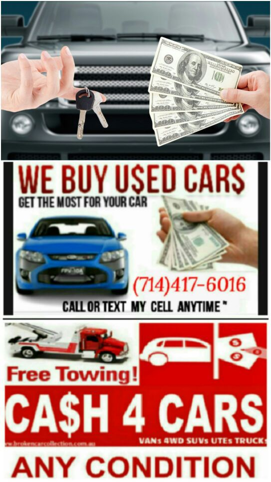 we buy cars $$ cash for cars $$ good & junk cars $$ compro carros ...