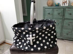 Collapsible Polka Dot Bag with Cross