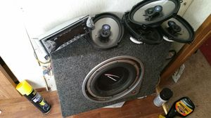 SUB, SPEAKERS, AND DECK ALL FOR $100