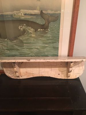 Antique wooden shelf made w/ solid wood