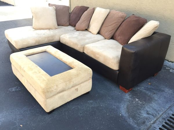 Kevin Charles L shaped couch sectional sofa Furniture in Delray