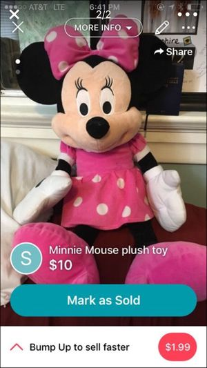 Big Minnie Mouse plush doll