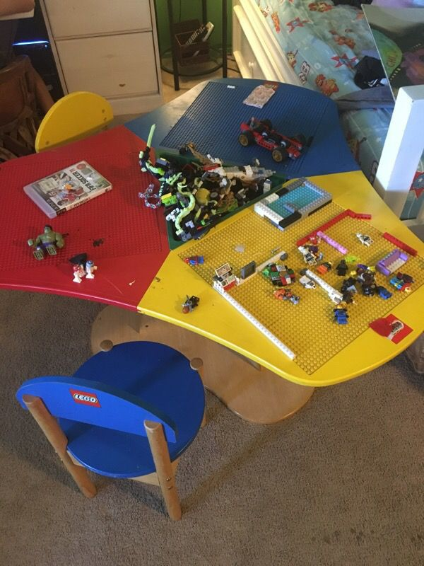 Lego table with 3 chairs (Games & Toys) in Sunnyvale, CA