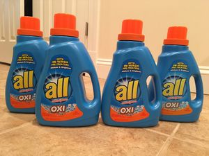 Set of 4 All oxi laundry detergent