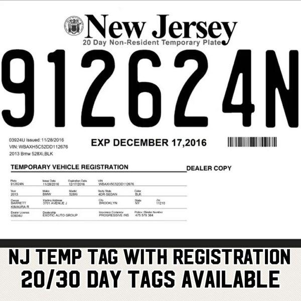 Queens Toyota Dealer: Nj Temp Tags (Cars & Trucks) In Queens, NY