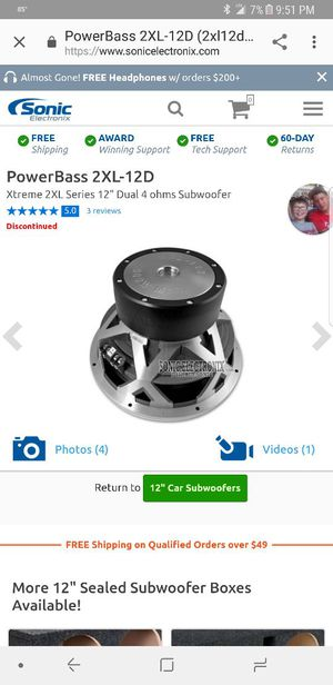 "12"" 2xl sub dual 4ohm 1200 watt JL amp please if u don't have the money don't waste my time"