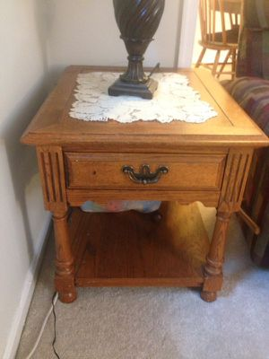 Wood end tables 2