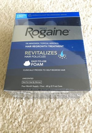 Men's Rogaine hair regrowth