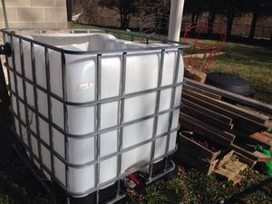 IBC container for aquaponics set up