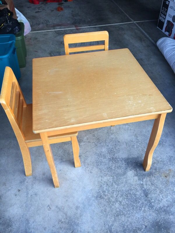 Natural Wood Table And Chairs Baby Kids In Auburn