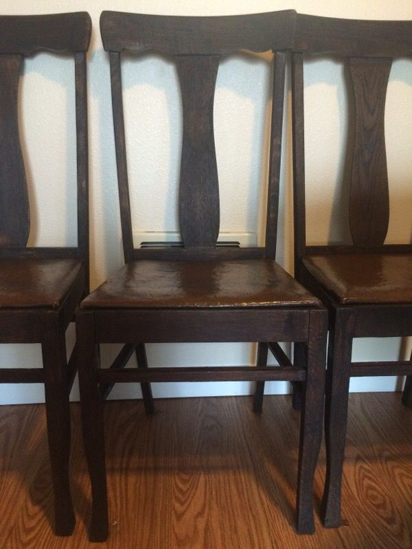 Antique pedestal dining table w chairs furniture in