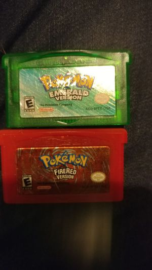 Pokemon emerald and fire red Gameboy advance