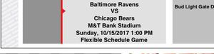 Baltimore Ravens vs. Chicago Bears (10/15/17')