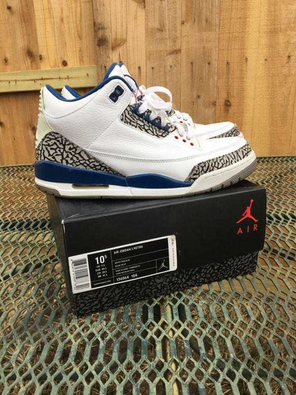 465ded38f366 Jordan 3 true blue 2011 size 10.5 (Clothing   Shoes) in Spring