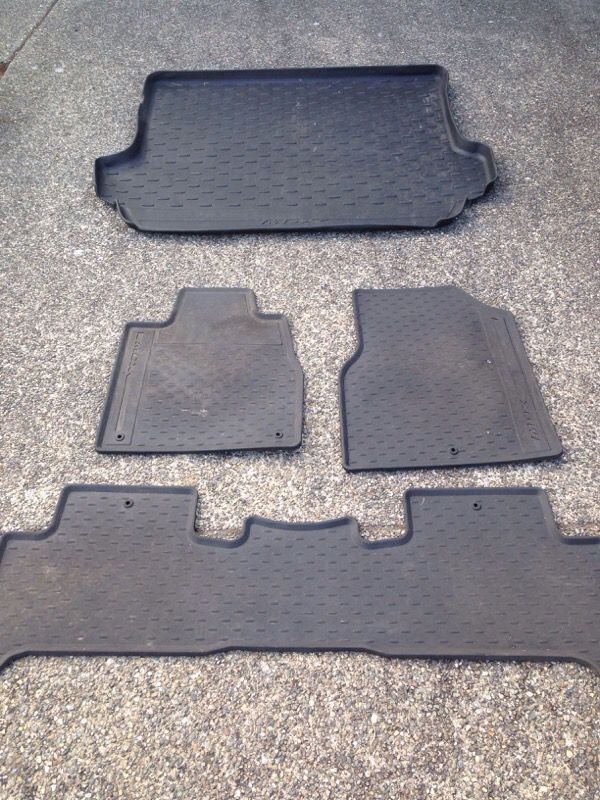 acura mdx oem all weather mats auto parts in renton wa offerup. Black Bedroom Furniture Sets. Home Design Ideas