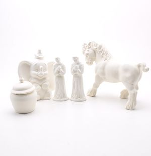 Assortment Bisque figurines ready to paint or leave as