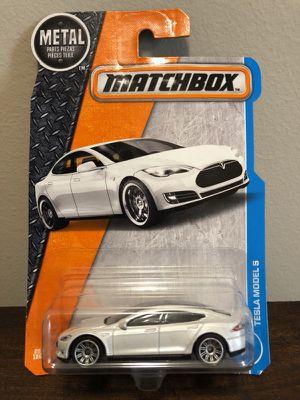 Tesla Model S (white) Matchbox Car