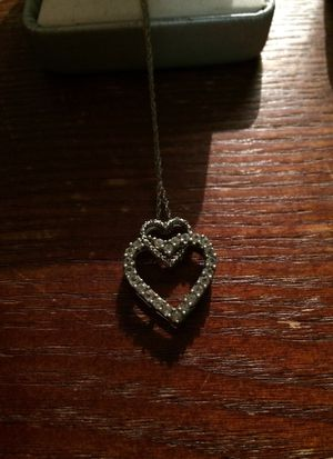 Silver studded heart necklace