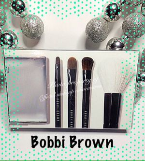 Bobbi Brown Mini Brush Set compact handles Professional full size brushes sold out retail$100