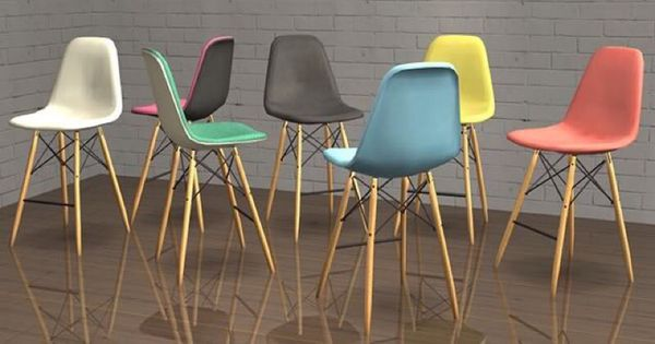 Eames Mid Century Modern Bar Stools Furniture in