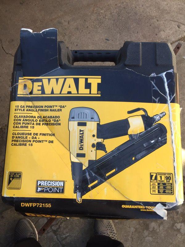 Dewalt 15 gauge DWFP72155 Finish Nailer Nail Gun (Tools & Machinery ...