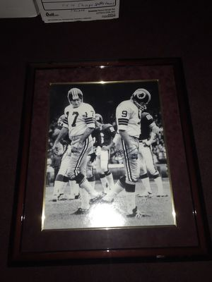 "The Changing of the Guard! Washington Redskins Greats Sonny Jurgensen and Billy Kilmer Autographed 16x20"" Photo signed by both Legends' Billy & Sonny"