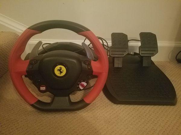 Ferrari thrustmaster racing wheel for xbox1