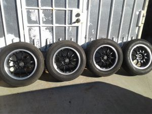 Set of 16 inch rims and tires