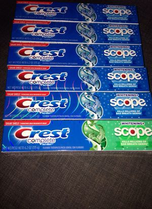 1# 6 Tubes Crest toothpaste. Please See All The Pictures and Read the description