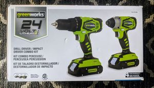 Greenworks 24V Drill Driver and Impact Driver Combo