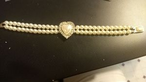 Vintage Mabe Pearl Insertable Clasp Braclet!!!!!