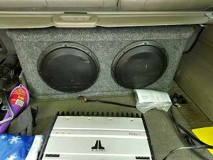 """JL w3 10"""" x2 with a 500/1 JL true watt amp"""