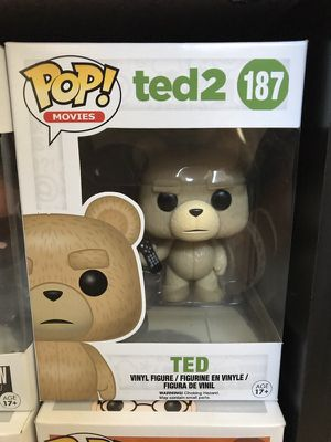 Ted with remote pop funko