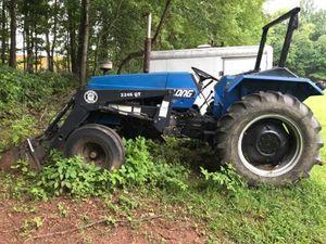 Bush hog front push loader