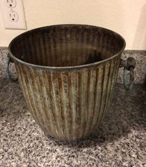 Vintage metal container or bucket