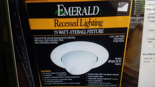 Recessed lighting by emerald household in pomona ca offerup recessed lighting by emerald aloadofball Image collections