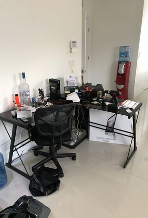 Desk and computer chair