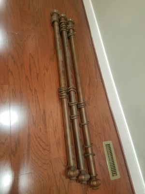 Bronze/brown curtain rods