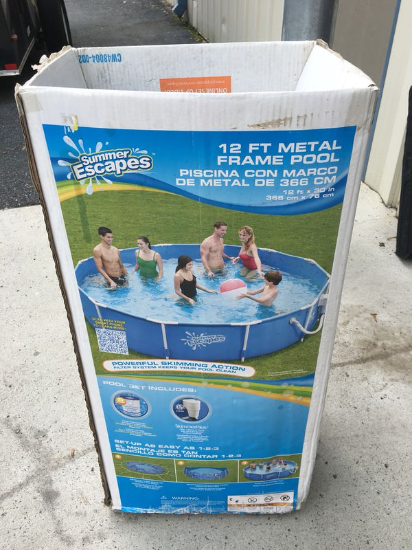 Fine Summer Escapes Metal Frame Pool Picture Collection - Custom ...