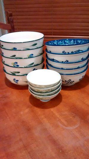 Set of 14 Korean bowls... Great for noodles, soups, bibimbap rice dish. Excellent condition. No chips