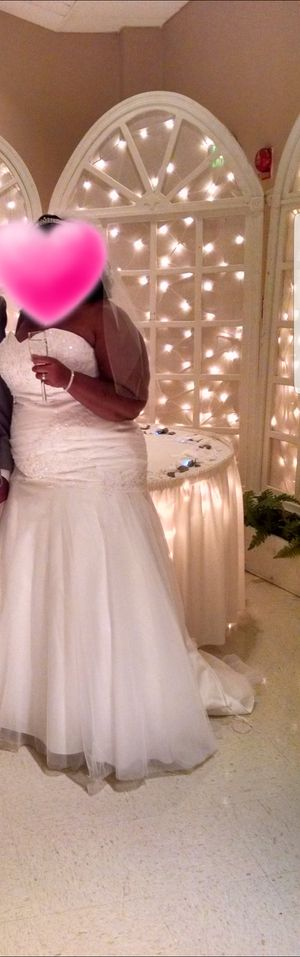 Wedding gown size 18