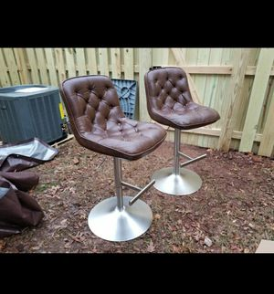 2 adjustable leather modern chairs