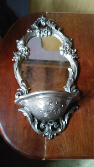 Wall hanging mirror witg shelf