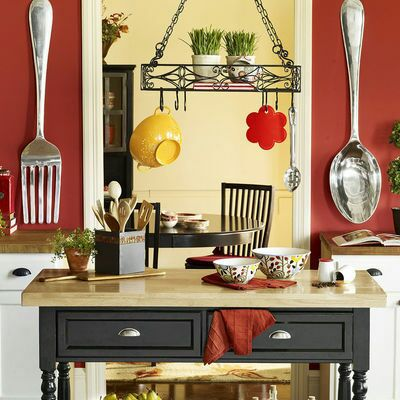 Pier 1 Imports large decorative Spoon and Fork aluminum (Household ...