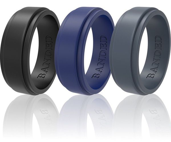 Silicone Wedding Rings For Men and Women 3 Pack Wedding Bands All