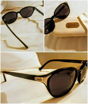 *Chloe* Women's Black Cat-Eye Sunglasses