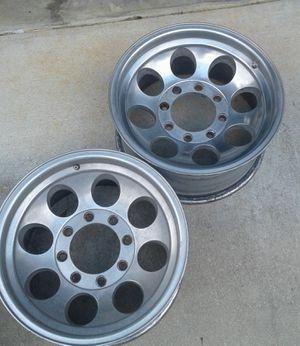 (4) 17x9 8 lug Aluminum alloy wheels